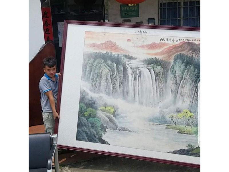 融水柳州大幅画作搬运搬家