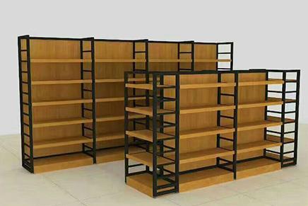 食品店钢木货架优点介绍