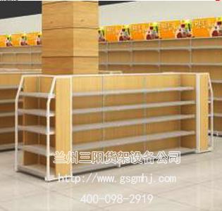 超市雙麵鋼木貨架