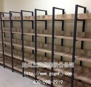 超市单面钢木货架