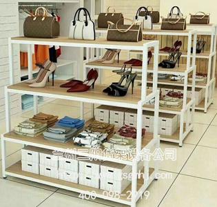 鞋柜钢木货架