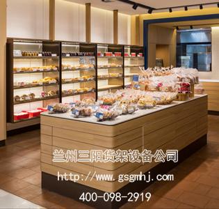 面包店钢木展示柜