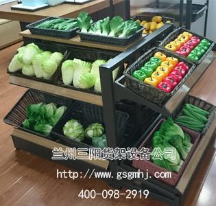 超市果蔬钢木货架