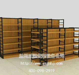 精品柜钢木货架