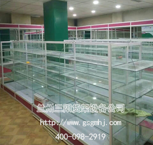 钛合金玻璃货架