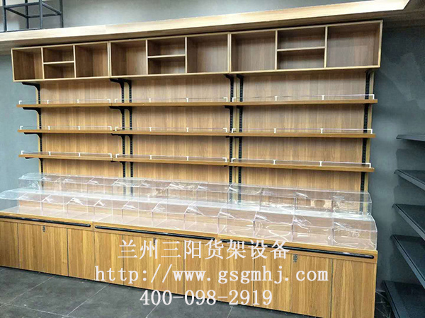 超市钢木货架设计