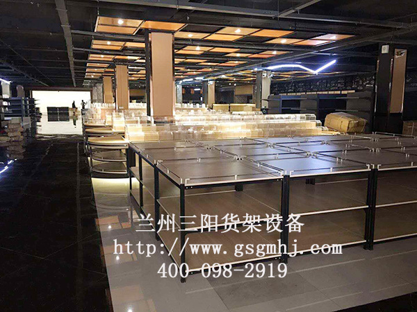钢木超市货架安装