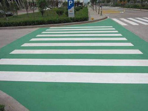 市政广场人行道彩色防滑路面