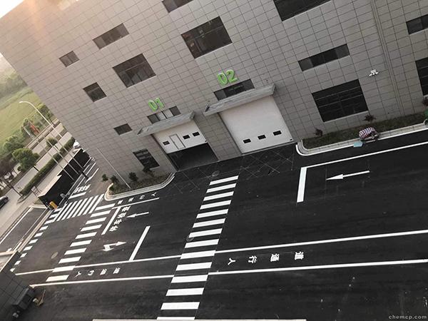 厂区道路冷喷标线