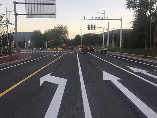 兰州交通道路标线