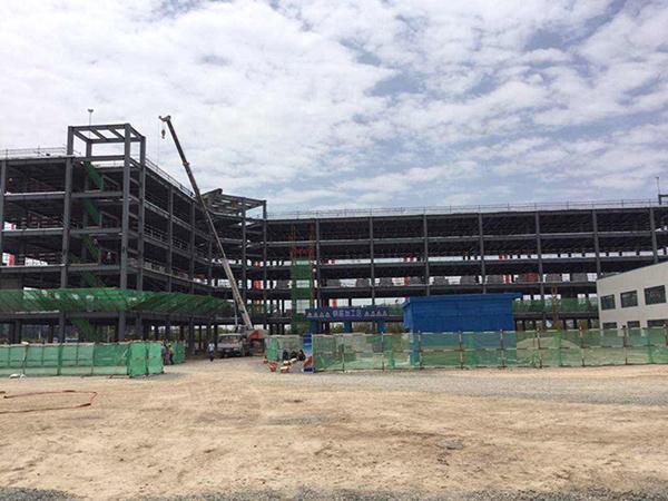 兰州新区飞机零件维修办公楼钢结构施工项目