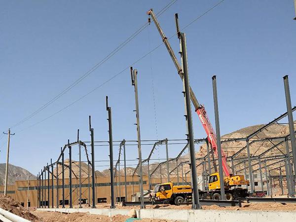 兰州久和汽配城钢结构厂房案例