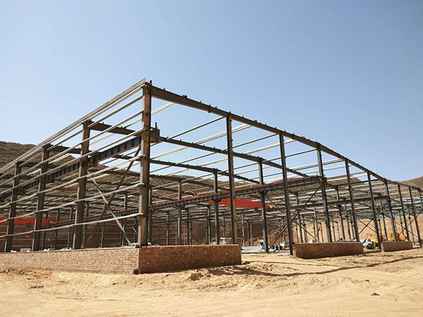 兰州西铁邦物流园钢结构加工工程
