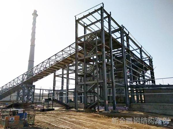 兰州新区中电投钢结构项目工程案例