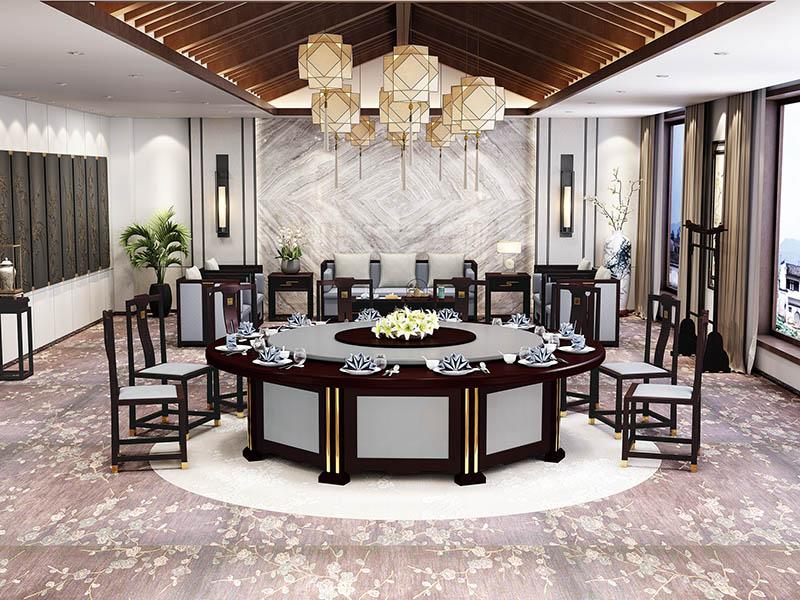新中式电动餐桌