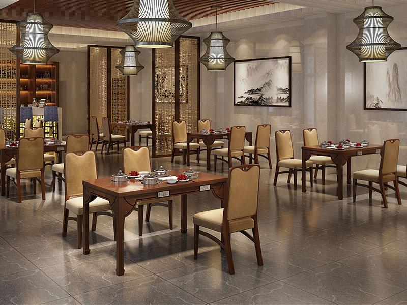 中式风格火锅桌