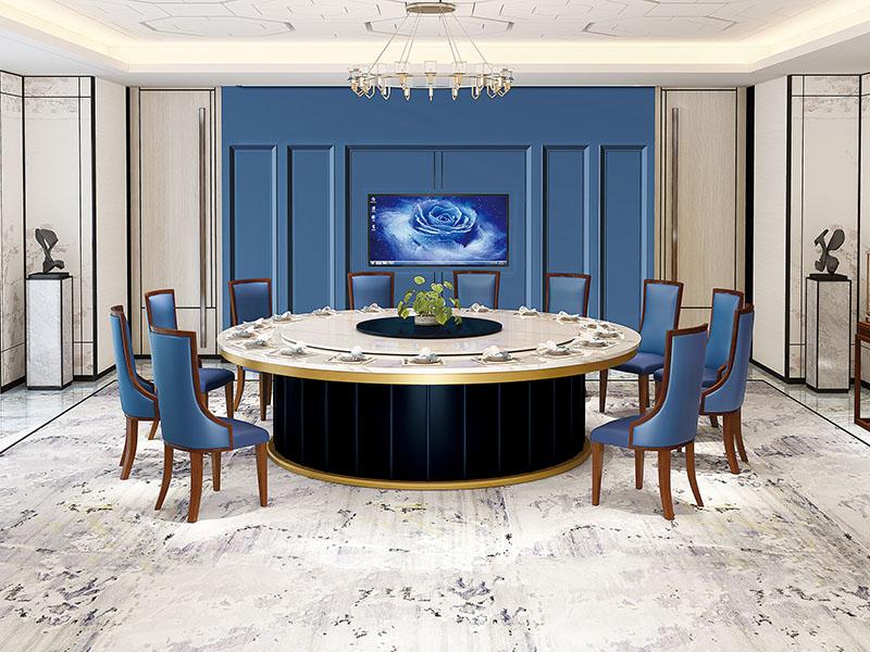 冰花大理石餐桌