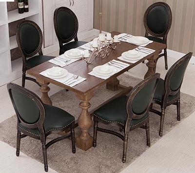 美式餐桌椅定制