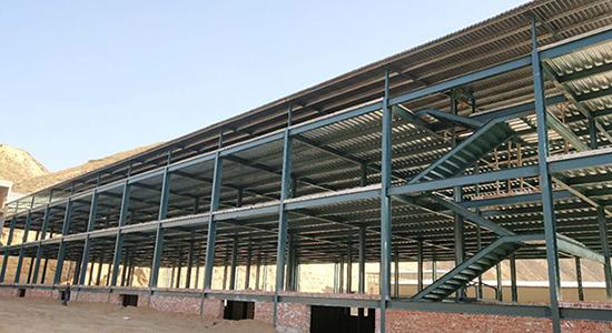 皋兰县九合镇食品厂钢结构厂房施工工程