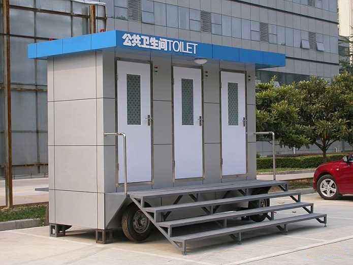 现在的移动厕所安装便捷,可立即使用