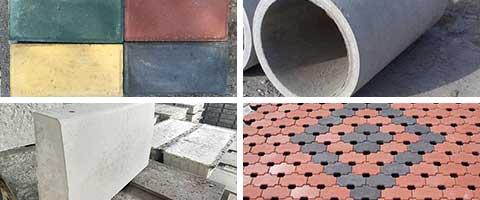 水泥管、透水砖、道牙、广场砖
