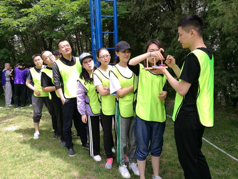 户外团队汉诺塔游戏拓展训练项目