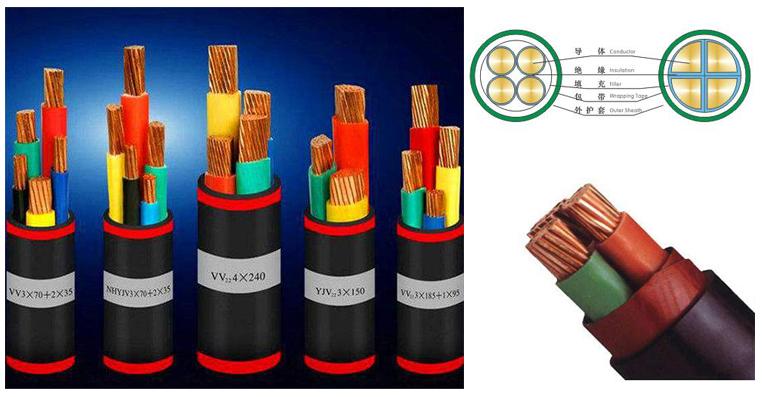 额定电压0.61kV交联聚乙烯绝缘聚氯乙烯护套电力电缆