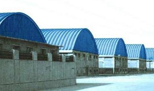 甘肃拱形波纹钢屋盖