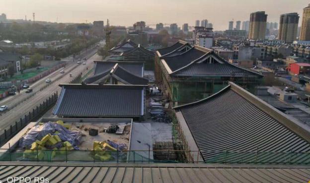 西安大唐华清城高立边ZC65-400反弯弧板工程