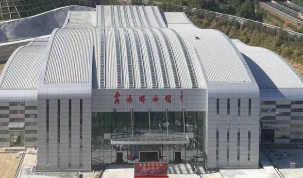 霞浦游泳馆高立边ZC65-430弯弧板工程