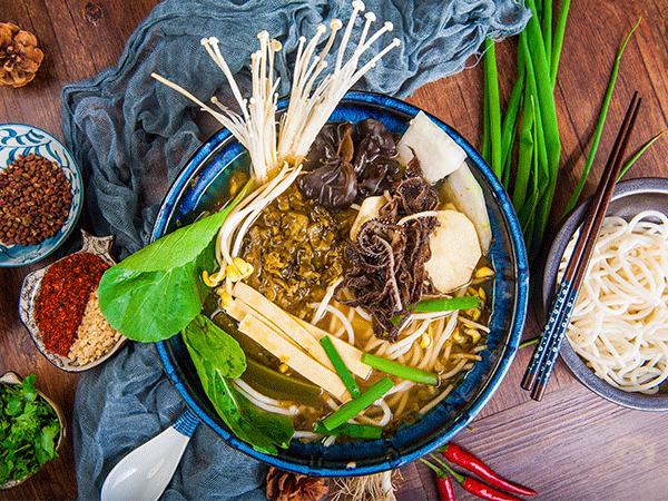 毛肚酸菜火锅米线