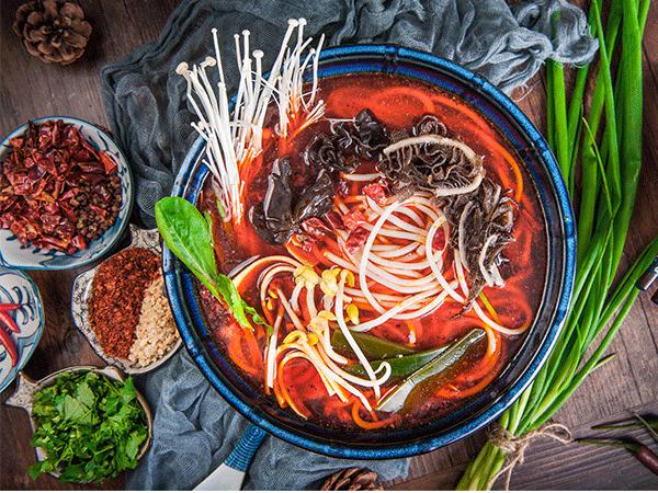 毛肚红汤火锅米线