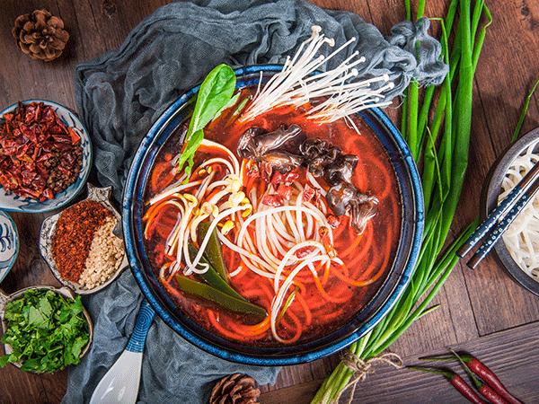 红汤火锅米线