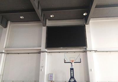 兰州三十三中校区内LED显示屏