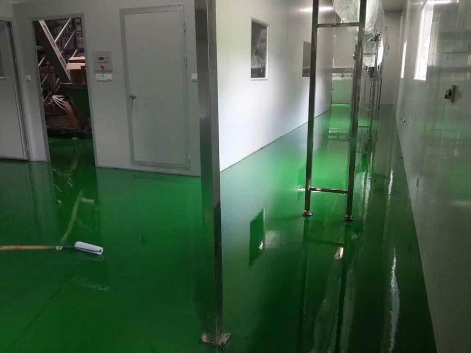 矿泉水厂车间环氧平涂案例
