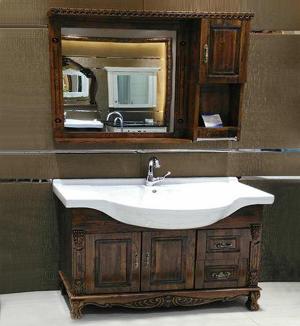 浴室柜材质哪种好?实木浴室柜保养技巧!