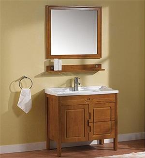 整体实木浴室柜