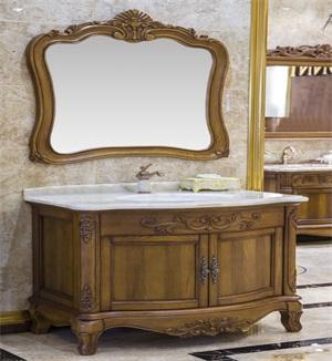 沈阳浴室柜厂家产品展示——实木烤漆浴室柜