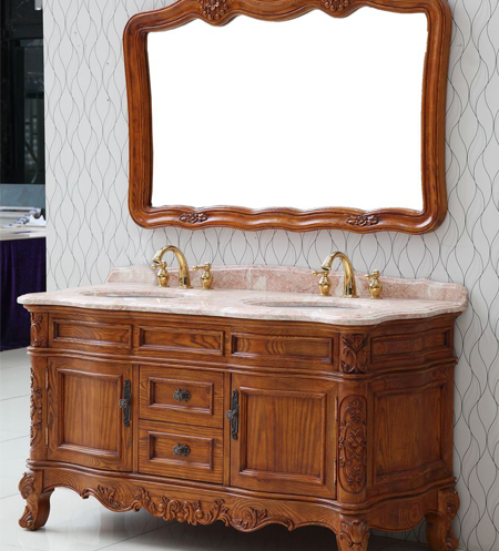 沈阳浴室柜厂家产品展示——实木浴室柜