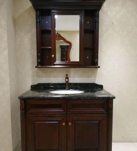 沈阳浴室柜厂家产品展示——美式浴室柜