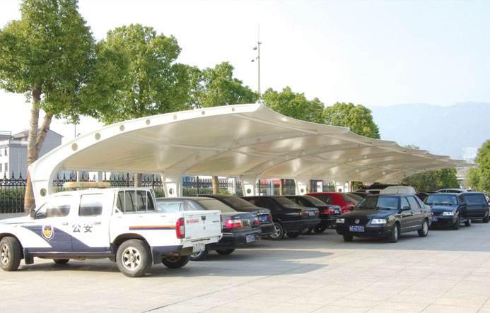 膜结构遮阳棚车棚