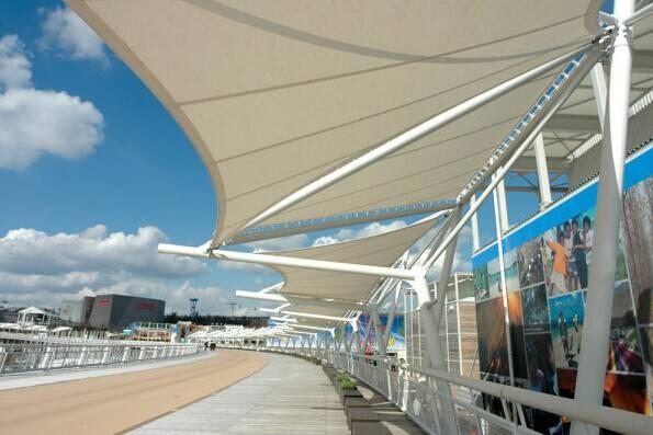 膜结构遮阳棚存在的意义以及功能效果应用有哪些?