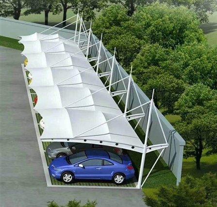 概述膜结构停车棚用什么膜