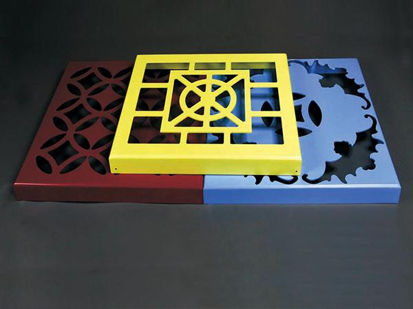 彩色雕花铝单板