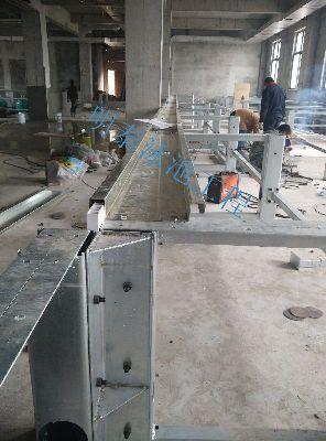 汉中洋县农业生态园室内泳池维修现场