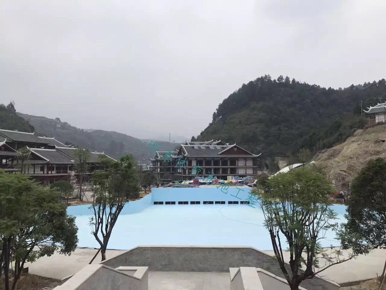 云南水上乐园ALKORPLAN泳池防水装饰胶膜安装