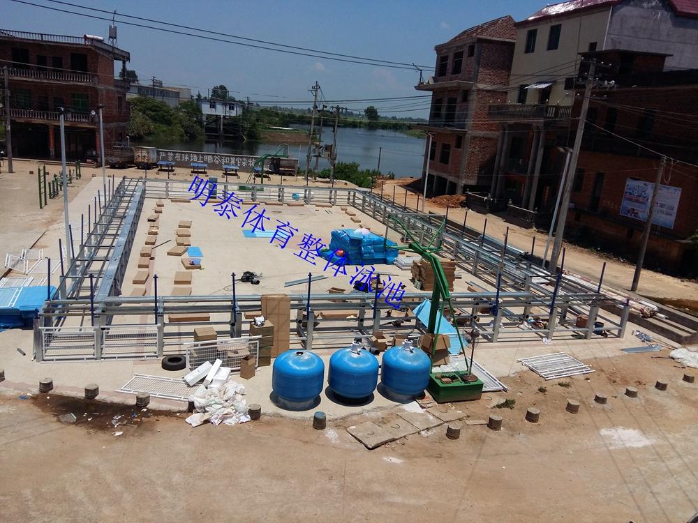 西安明泰整體泳池工程建設項目展示