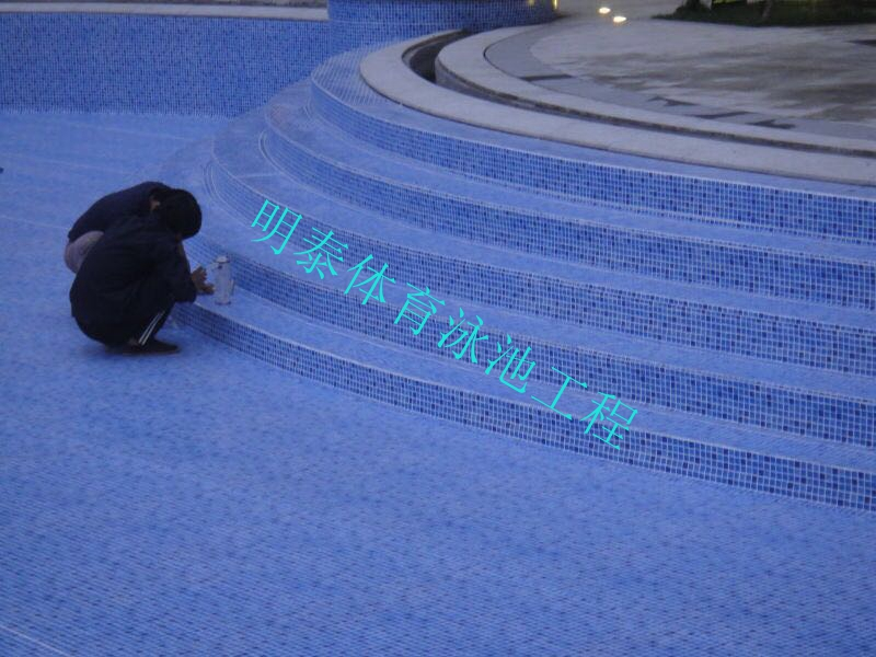 北京熙海度假酒店泳池ALKORPLAN防水装饰胶膜项目