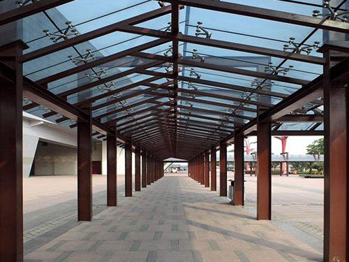 毕节防腐木长廊生产