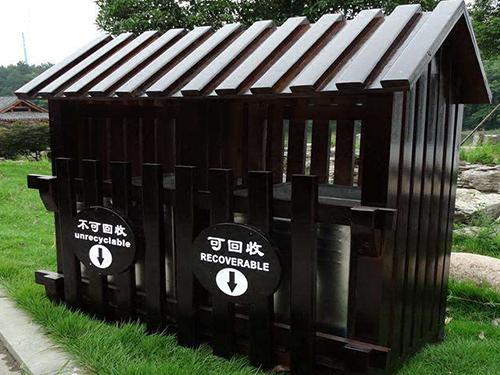 贵州防腐木垃圾箱加工